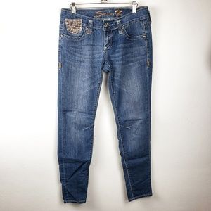 Seven7 | Gold Sequin Legging Womens Jeans Size 28